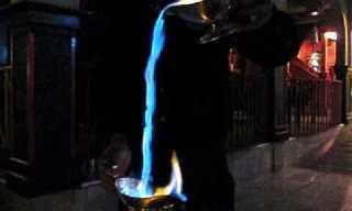 מפלי אש בקפה