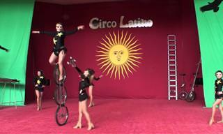בואו לצפות באחיות הזהובות מדרום אמריקה במופע אקרובטי מרהיב