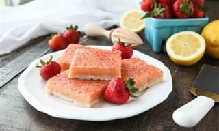 מתכון לחטיפי תות-לימון טעימים ופשוטים להכנה שיעשו לכם את היום