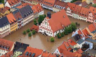 תמונות מדהימות מהשטפונות באירופה