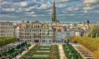 מפה אינטראקטיבית עם 14 יעדים מדהימים בבלגיה