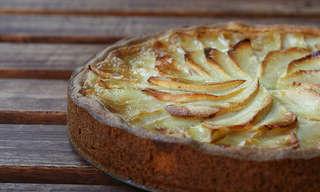 טארט ספירלה של תפוחים - קינוח מדהים!