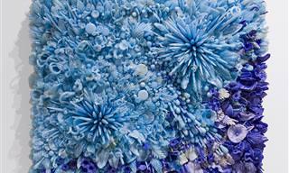 אמנית זכוכית שהעניקה הזדמנות נוספת לשברי כלים ישנים