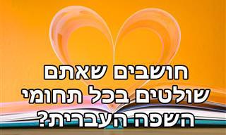 בחן את עצמך: הגיע הזמן לבדוק את שליטתך בשפה העברית!