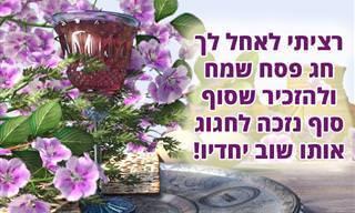 """ברכה מיוחדת לחג הפסח תשפ""""א"""