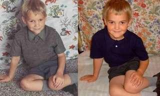 סדרת תמונות של ילדים שדומים להוריהם