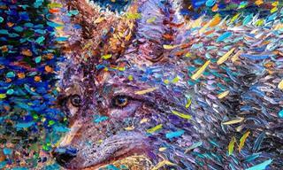 ציורים מדהימים של איריס סקוט - האמנית שמציירת עם האצבעות