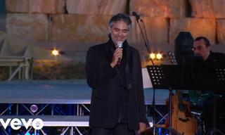 """אנדראה בוצ'לי בביצוע מרגש לשיר """"אני אהיה שם"""""""