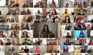 מיזם השירה קולולום בביצוע עולמי מרגש לשיר Fix You