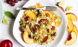 מתכון לסלט קינואה ופירות קייצי, טעים ופשוט
