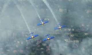 פעלולי מטוסים מהתערוכה האווירית בבודפשט