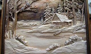20 יצירות פיסול עץ מרהיבות שנראות ממש כמו ציורים