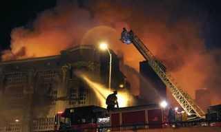 השריפה שקפאה במקום - תמונות מדהימות!