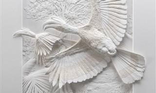 14 פסלי נייר מציאותיים ויוצאי דופן של חיות בטבע