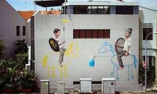ציורי רחוב שהופכים את העיר למוזיאון חי ובועט