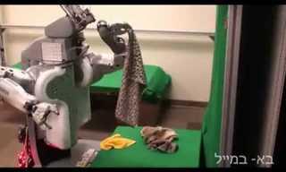 תיגע במקופלים: הרובוט שמקפל כביסה!