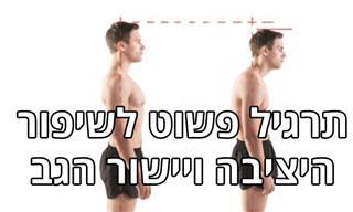 תרגיל פשוט לשיפור היציבה ויישור הגב