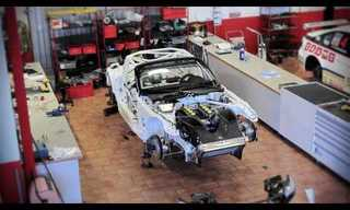 תהליך ההרכב של מכונית ספורט