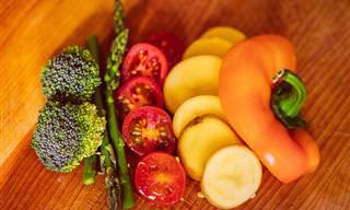 טבלת זמני הכנה מומלצים של מגוון ירקות
