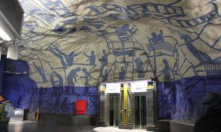 תחנות הרכבת התחתית היפות בעולם