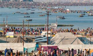 24 תמונות מפסטיבל הכד שנערך אחת ל-12 שנים בהודו