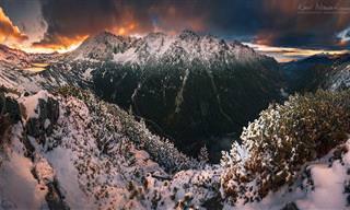 מסע מצולם את היופי החורפי של הרי פולין