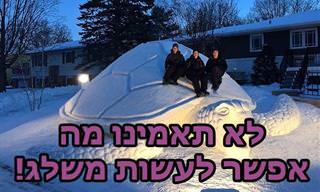 15 תמונות של פסלי שלג משעשעים ומרשימים