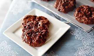 עוגיות שוקולד-קוקוס-שקדים ללא קמח!
