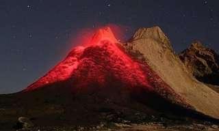 תמונות מדהימות של הרי געש מתפרצים
