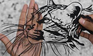 16 דוגמאות נפלאות לאמנות מגזרות נייר מרהיבה