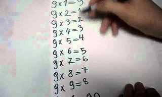 עוד דרך מדליקה ללמוד כפולות של 9....