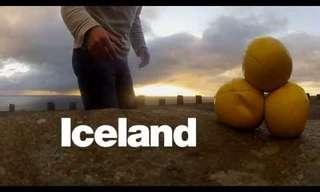 טיול באיסלנד מתועד באמצעות להטוטים