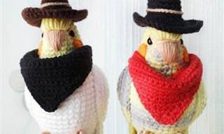 14 תמונות של בובות ציפורים סרוגות, שהן פשוט תאווה לעיניים!