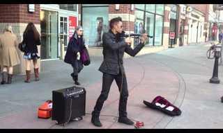 מוזיקת רחוב: מנגן על כינור בצורה מדהימה!