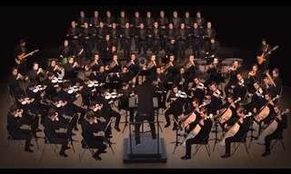 תזמורת של איש אחד בביצוע קלאסי מרשים