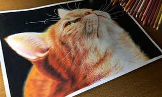 14 ציורים מדהימים של משפחת החתולים שנראים כמו תצלומים של ממש