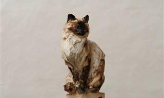 האמן שמפסל בעץ יצירות יוצאות דופן של חיות - בעזרת מסור!
