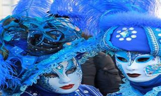 תמונות ססגוניות ואירועים מיוחדים מפסטיבל המסכות בוונציה לשנת 2019