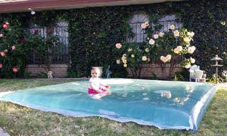 בועת מים כיפית להורים וילדים