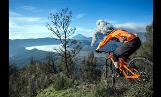 רכיבת אופניים מדהימה על רקע הנופים המרהיבים של הר הגעש ברומו