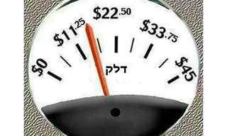 קריקטורות משעשעות בנושא מחירי הדלק