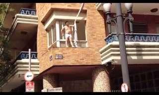 מאהב בורח דרך המרפסת - לא ייאמן!