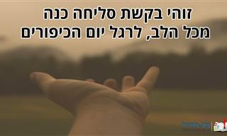 ממני אליך: בקשת הסליחה והמחילה הזו מגיעה מכל הלב