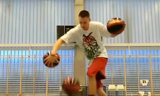 סרטון פעלולי כדורסל מיוחדים של אנשים מדהימים