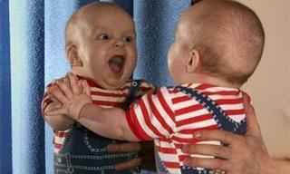 מה קורה כשתינוקות פוגשים את עצמם במראה בפעם הראשונה