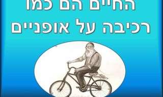 החיים הם כמו רכיבה על אופניים!