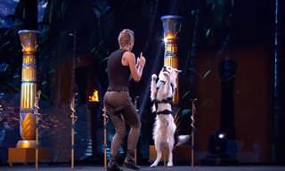 המופע הקצבי והמדהים של שרה והכלב הירו