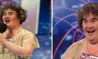 סוזן בוייל לפני ואחרי - כנראה שהכסף עושה את ההבדל!