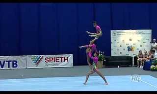 מופע התעמלות אמנותית באליפות העולם
