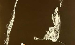 20 ציורי נשים מדהימים עם משחקי אור וצל